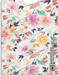 Candy Floral Passport Sleeve