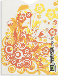 Fireflowers Swirls Passport Sleeve