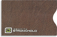 Brown Leather Look Secure Sleeve