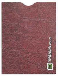 Red Leather Look Passport Sleeve