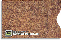 Tan Leather Look Secure Sleeve