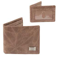 Natural Brown Bifold Western Wallet with Sidekick Mini
