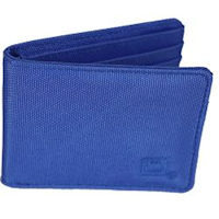 Baltic Blue Nylon Bi-fold 6-slot Wallet