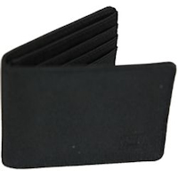 Black Nylon Bi-fold 6-slot Wallet